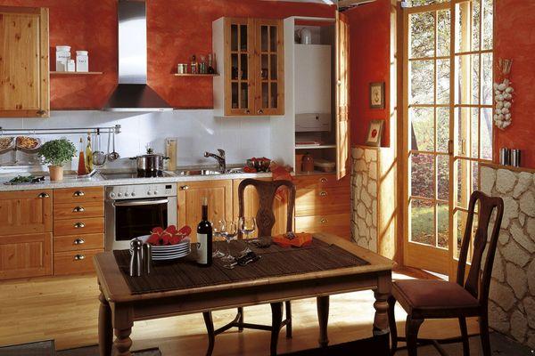 Установка газового котла на кухне